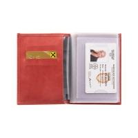 Бумажник водителя женский  С-БИ-1 друид красный