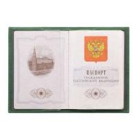 Обложка для паспорта женская С-ОП-1 друид зеленый
